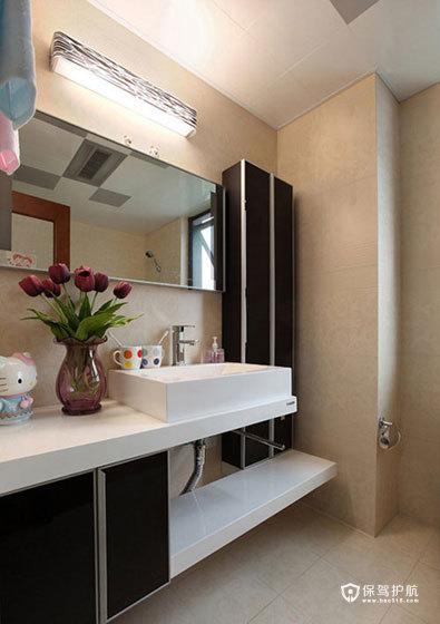 空间大利用 85㎡简约婚房 ,简约风格,现代简约风格,婚房装修,小户型装修,80平米装修,卫生间