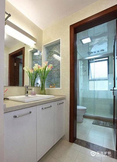 空间大利用 85㎡简约婚房 ,简约风格,现代简约风格,婚房装修,小户型装修,80平米装修,洗手台