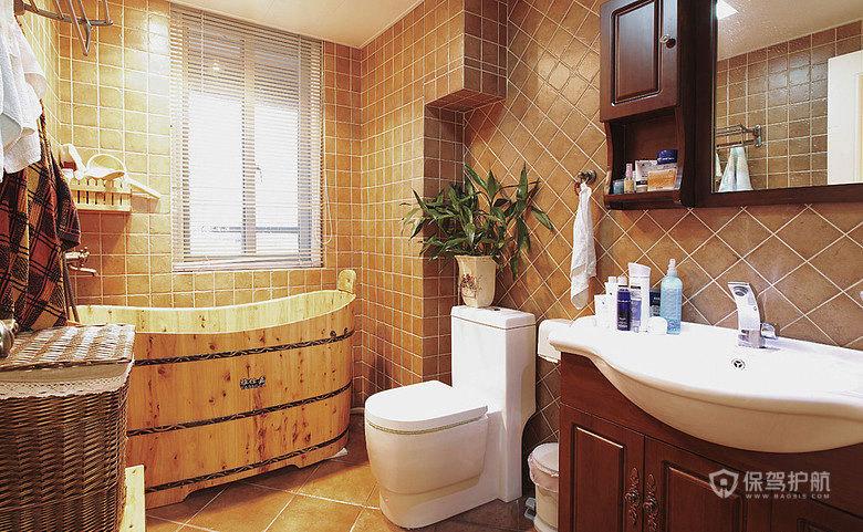 由于做了两个卧室,一个书房,要是再做两个卫生间就显得很拥挤了,所以就做了一个相对还算宽敞的卫生间,糖果喜欢用木桶泡澡澡