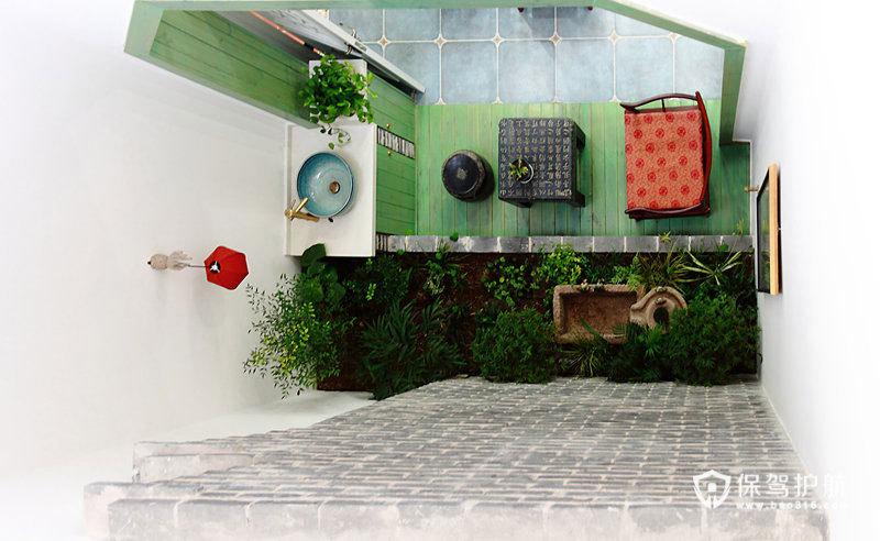 从美式到中式 我的混搭复式屋 ,复式装修,美式风格,中式风格,新中式风格,混搭风格,富裕型装修,140平米以上装修,露台花园
