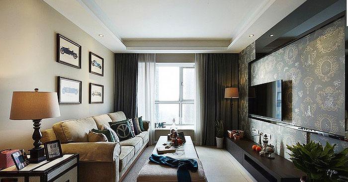 美式风格,80后装修,小清新,二居室装修
