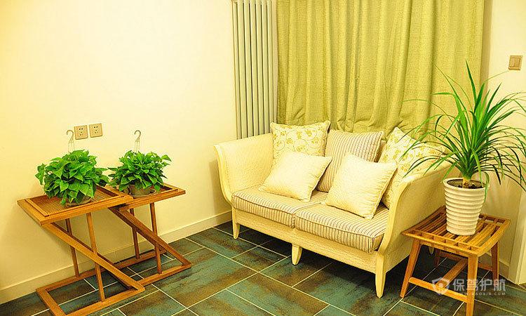 田园风格公寓10平米客厅盆栽装饰效果图