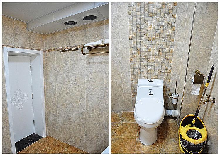现代风格三室一厅5平米卫生间马桶效果图