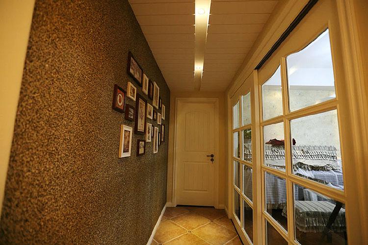 125平美式田园混搭风三居室过道装修…