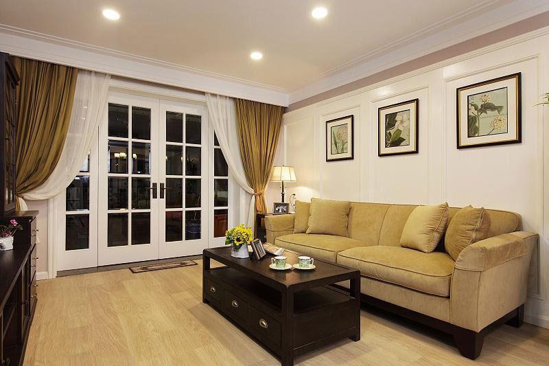 温暖舒适的新家 127平简约美式三居 ,三居室装修,简约风格,美式风格,舒适,120平米装修,沙发,布艺沙发
