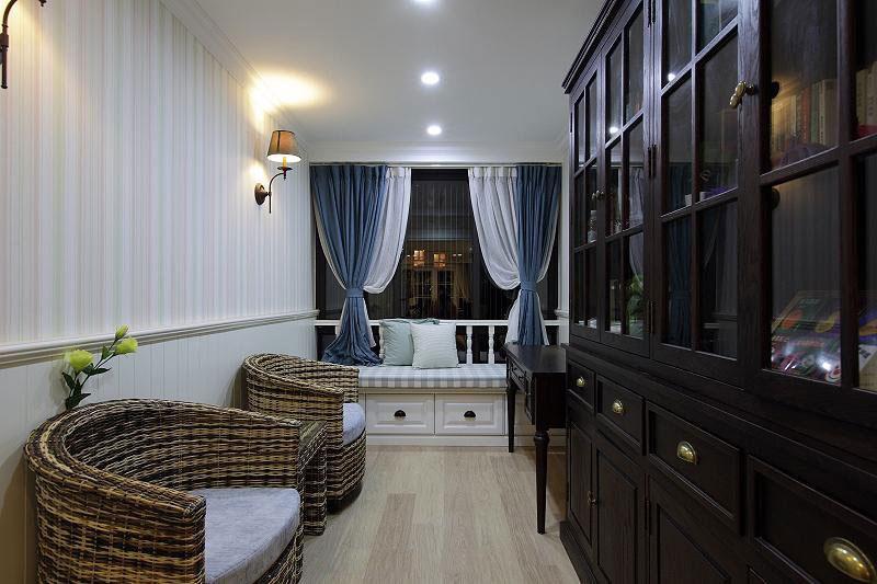 温暖舒适的新家 127平简约美式三居 ,三居室装修,简约风格,美式风格,舒适,120平米装修,书房