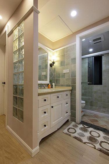 温暖舒适的新家 127平简约美式三居 ,三居室装修,简约风格,美式风格,舒适,120平米装修,卫生间,整体卫浴