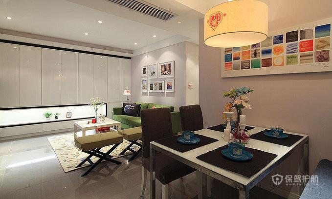 89平低奢小三房 宜家与现代风格混搭 ,三室一厅装修,80平米装修,宜家风格,现代简约风格,混搭风格,奢华,餐厅,餐厅背景墙