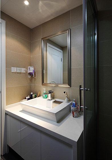 89平低奢小三房 宜家与现代风格混搭 ,三室一厅装修,80平米装修,宜家风格,现代简约风格,混搭风格,奢华,卫生间