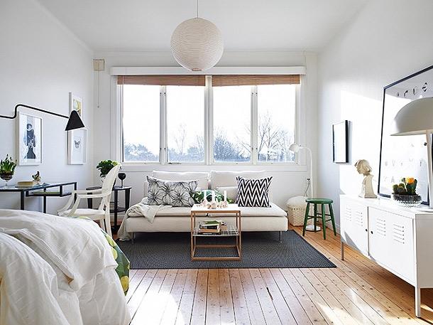 巧妙点缀空间 33平米翠绿单身公寓 ,小户型装修,超小户型,绿色,现代简约风格,日式风格,小清新,单身公寓,卧室