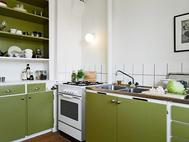 巧妙点缀空间 33平米翠绿单身公寓 ,小户型装修,超小户型,绿色,现代简约风格,日式风格,小清新,单身公寓