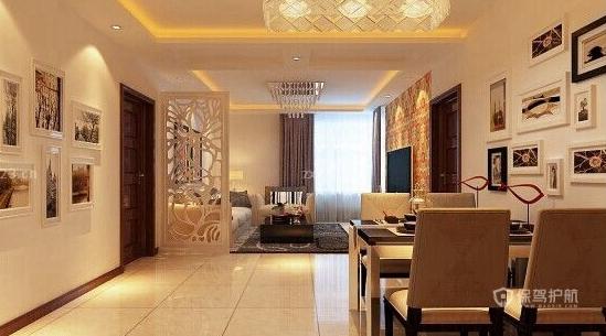 时尚现代风格颜色搭配主卧室床头背景墙装修效果图