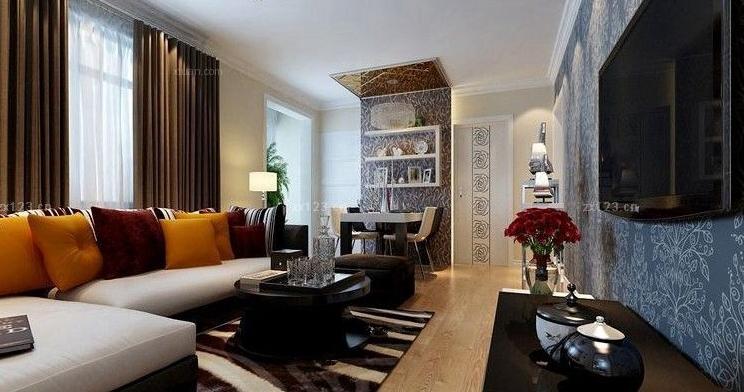 最新现代设计风格时尚客厅转角沙发装修图大全