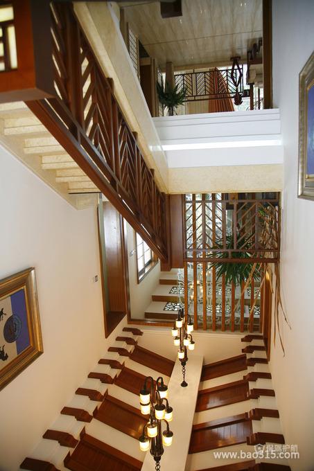 新古典风格别墅30平米走廊灯具搭配效果图