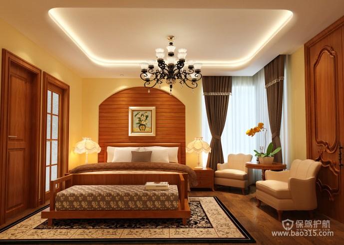 东南亚风格别墅卧室背景墙装修效果图