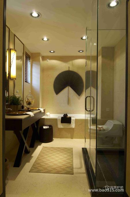 三室一厅精装东南亚风格卫生间装修图片