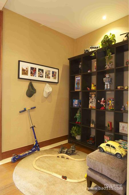 简约风格儿童房置物架装修图片