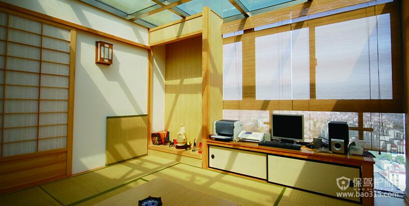 70㎡小户型日式风阳台榻榻米装修效果图