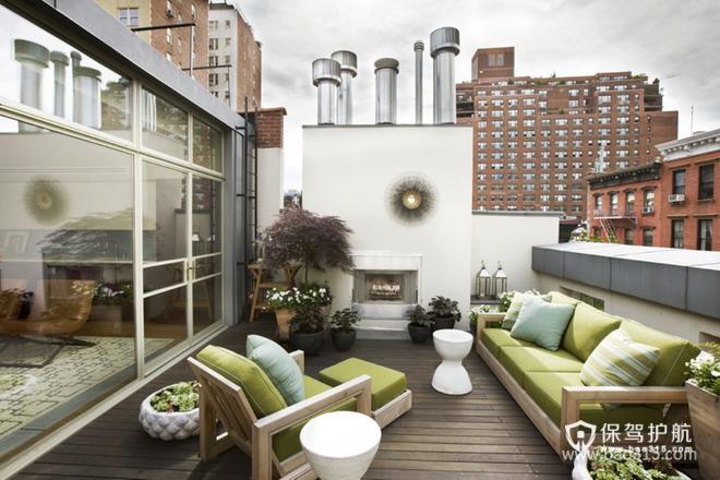 现代风格阳台装修效果图-现代风格沙发图片