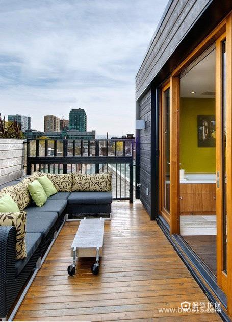 现代风格的时尚阳台设计