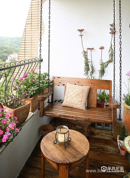 休闲而充实的阳台空间装饰效果