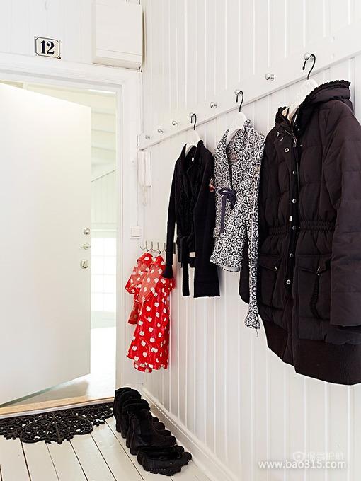 极简约风格两室两厅5平米玄关板材墙面装修效果图