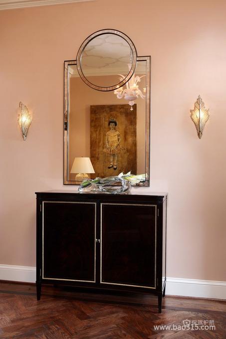 法式风格四室两厅20平米粉色卧室梳妆镜效果图