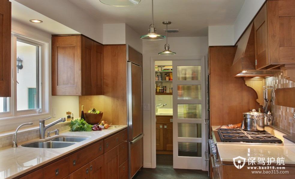 90㎡楼房欧式风格厨房隔断装修效果图-欧式风格厨房隔断门图片