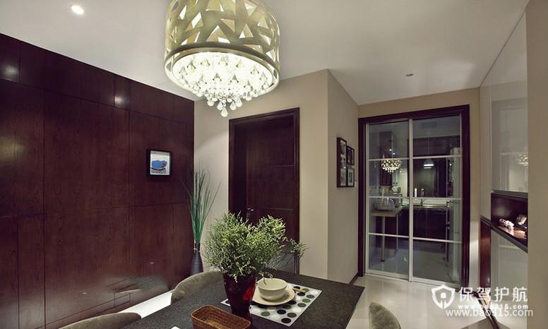 90㎡楼房现代风格餐厅吊顶装修效果图-现代风格厨房隔断门图片