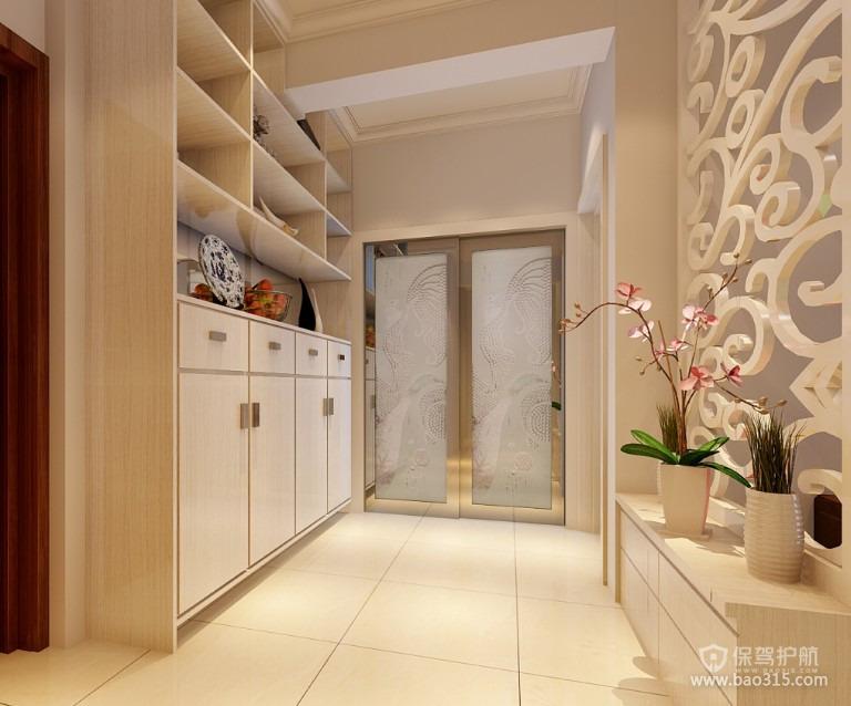 90平二居室简约欧式风格玄关柜装修效果图