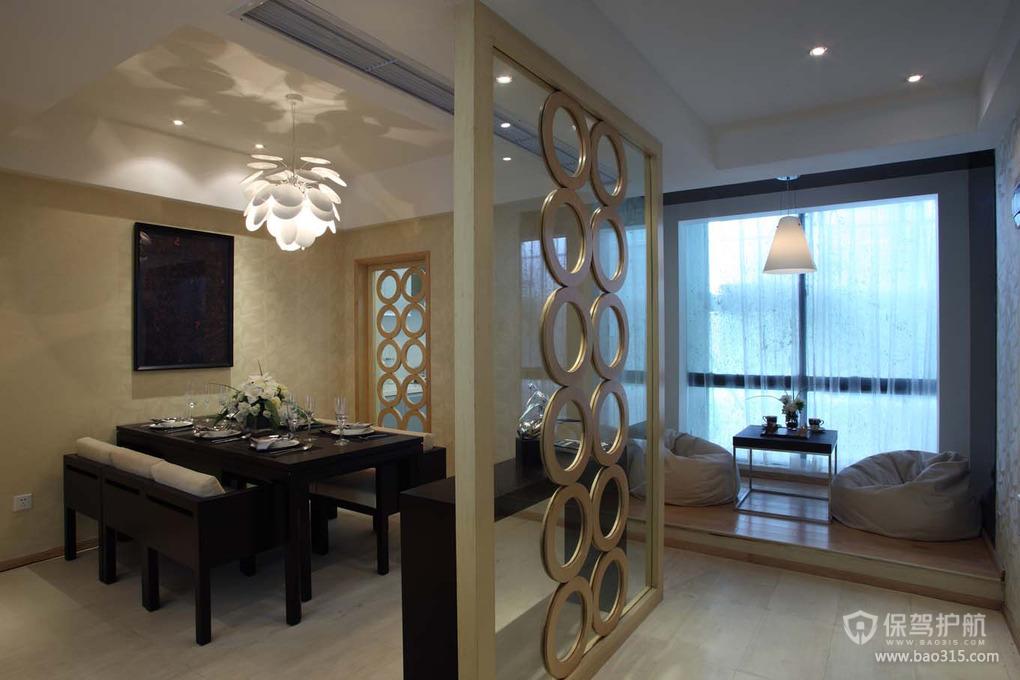 90平现代风格二居室餐厅吊顶装修效果图