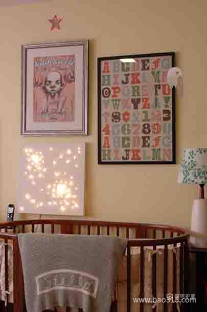 古典风格婴儿房背景墙装修效果图