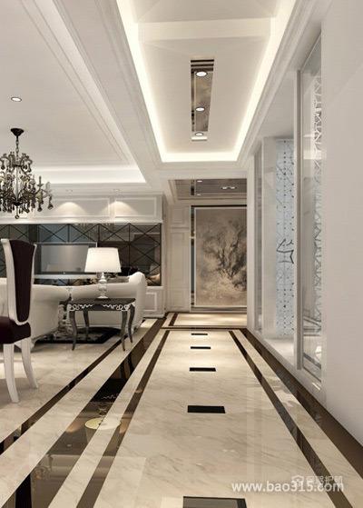现代欧式豪华客厅过道装修效果图