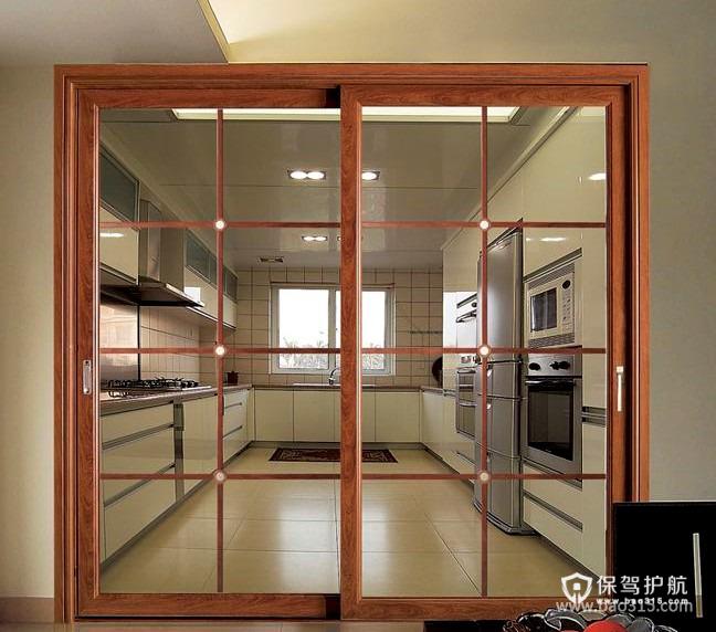 90㎡楼房现代风格厨房隔断装修效果图-现代风格厨房隔断门图片
