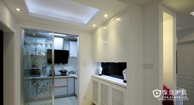 90㎡楼房现代风格厨房隔断装修图片-现代风格厨房隔断门图片
