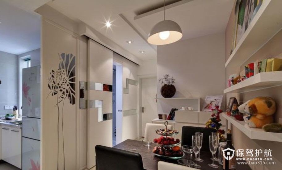 90㎡楼房现代风格厨房隔断门图片
