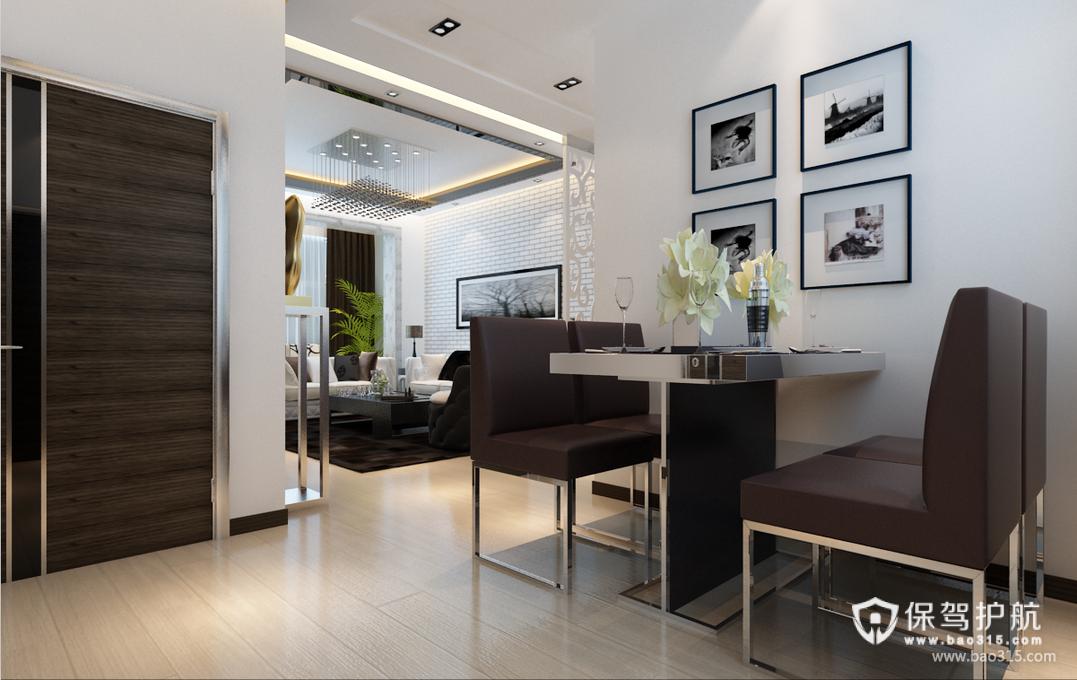 85㎡现代风格餐厅背景墙装修效果图-现代风格餐椅图片