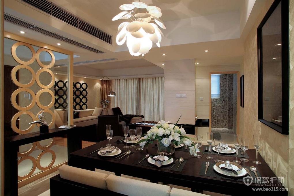 89㎡现代风格餐厅吊顶装修图片-现代风格餐桌椅图片