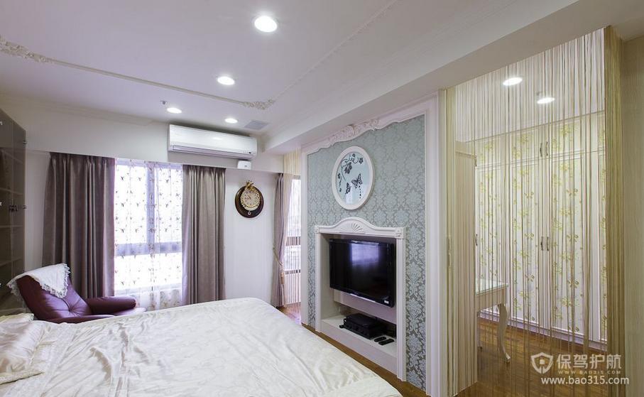 140平现代风格二居室卧室窗帘装修效果图