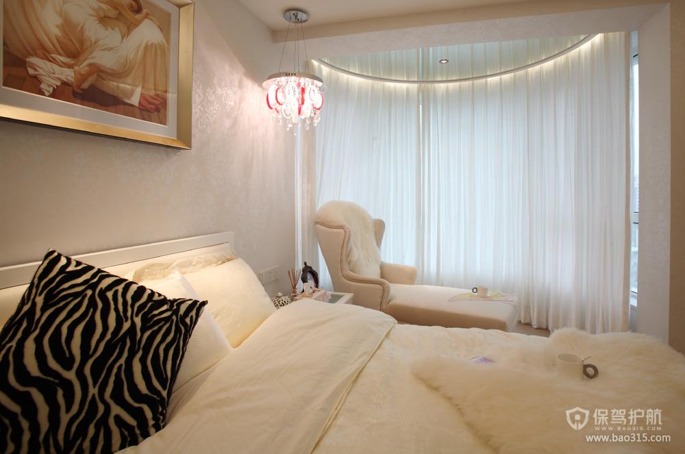 79平现代简约风卧室床头背景墙装修效果图