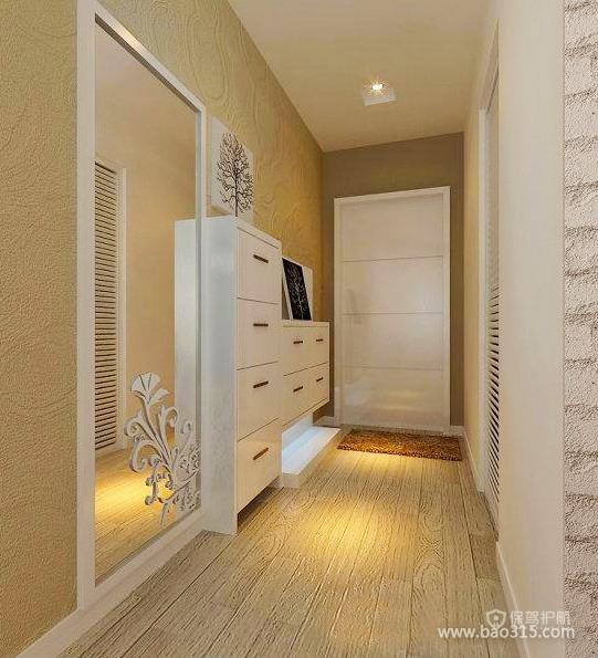 米兰风格三室两厅玄关精美装潢效果图