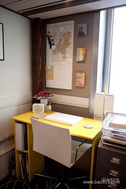 简洁的书房空间装修效果图