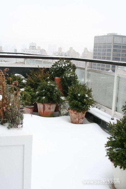 雪白的家居阳台装修效果图