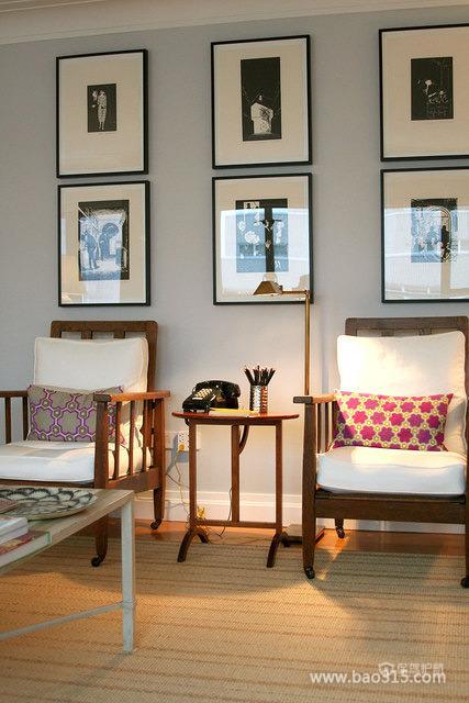 艺术之感的客厅沙发背景墙装修效果图