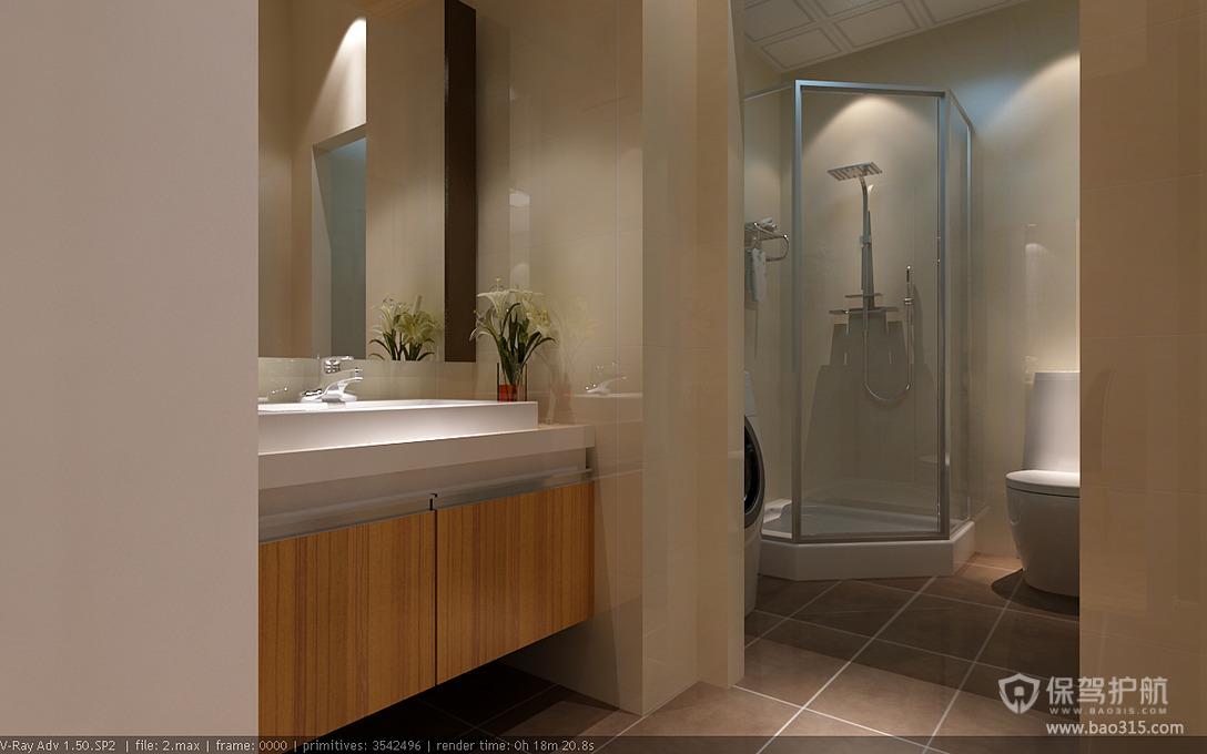 90平三室一厅简约风格卫生间装修效果图