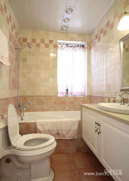 古罗马风二居室马赛克卫浴间背景墙装修效果图