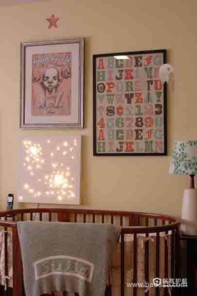 婴儿房背景墙装修效果图