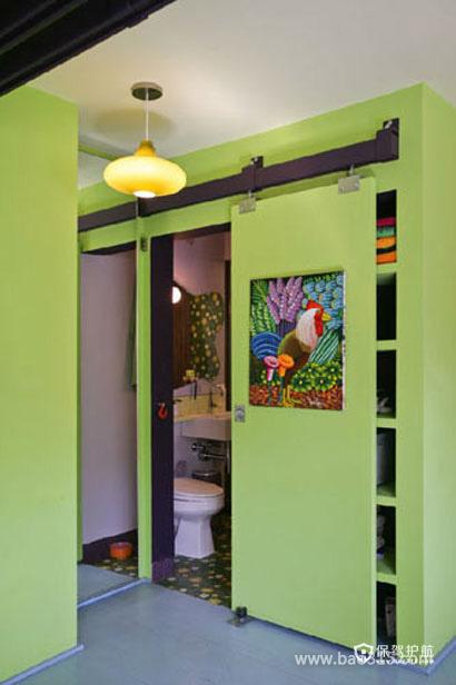 突显清新之感的小卫生间设计效果图