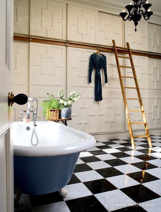 欧式古典浴室浴缸装修效果图