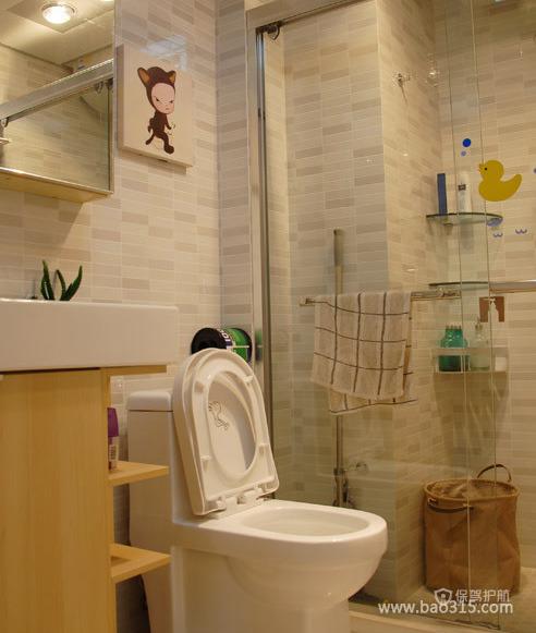 韩式现代风格童趣卫生间装修效果图